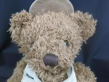 BROWN FISHERMEN TEDDY BEAR WILLIAN EAGLE CLAW BRAND KHAKI VeST HAT PLUSH