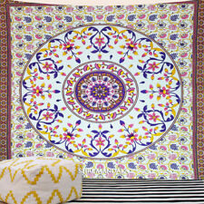 Multicolor Mandala Tapestry King Size Hippie Wall Hanging Cotton Bohemian Throw