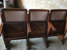 Sillones de madera cine antiguos. Bien conservados. Para recoger en mi casa.