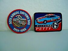 VINTAGE RICHARD PETTY AND 30TH ANNUAL DAYTONA 500 PATCHES