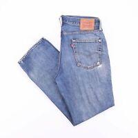 Vintage LEVI'S 514 Straight Fit Men's Blue Jeans W34 L32