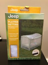 Jeep Pack N Play Playpen Netting Protection from Mosquitoes Insects, New In Box
