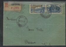 CAMEROUN COVER (P1503B) 1941 REG COVER FROM AMBAM, ELEPHANT STAMP