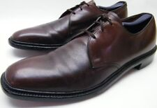 MENS VINTAGE ET WRIGHT UNION MADE BURGUNDY LEATHER OXFORD DRESS SHOES SZ 11 AAA