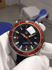 Seiko SKX007 personalizzata. 3-6-9 Arancione Quadrante, mani e lunetta inserisci... BUBBLE zaffiro.
