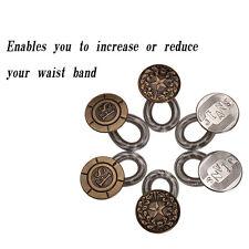 4X Jeans Pants Stretch Button Instant Fix Metal Elastic Expander Waist Extender
