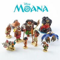 10 Disney Moana Action Figures Doll Kids Children Play Set Toy Cake Topper Decor