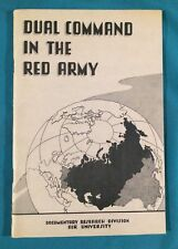 Vintage Dual Command In The Red Army Air University Research Study Book