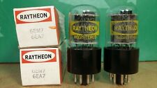 Pair of GE (Raytheon label) 6EM7 6EA7 NOS NIB Vacuum Tubes