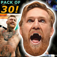 30 Conor McGregor Fête Card face masks UFC Stag Birthday Night Out #mp21 p&p!