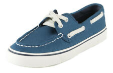 Sperry Women's Blue Biscayne Canvas Boat Shoes Ret $59.99 New