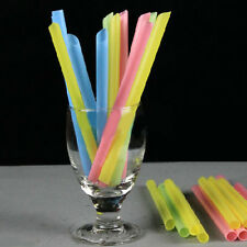 33Pcs Jumbo Thick Drinking Straws Bubble Boba Pearl Tea Drink Straw Smoothie DIY
