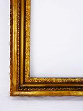 Grand cadre ancien en bois et stuc doré  feuillure(IN):63,7x52cm Marco frame