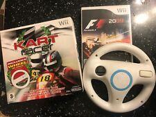 2 x NINTENDO Wii RACE GAMES KART RACER & F1 09 / FORMULA ONE 2009 ++ 2x WHEELS