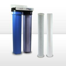 "Max Water 2 Stage 20"" x 2.5"" Whole House Water Filter, Sediment Carbon CTO"
