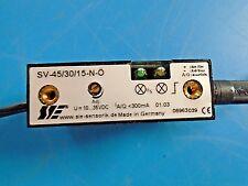 SIE SV-45/30/15-N-O Sensor Wired to a SK-1.5-M8-B Proximity Sensor