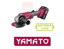 YAMATO FLEX SMERIGLIATRICE ANGOLARE A BATTERIA AL LITIO 3.0 Ah 20 volt Ø 115 MM