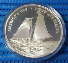 1987 Samoa $25 America's Cup Commemorative 5 oz 999 Fine Silver Proof Coin