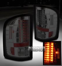 07-11 CHEVY SILVERADO PICKUP TRUCK LED TAIL LIGHTS REAR LAMPS SMOKE LS LT LTZ WT