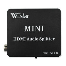 Wiistar HDMI Audio Splitter HDMI to HDMI and Optical TOSLINK Coaxial Converter
