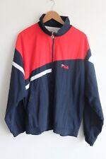Vintage Fila shellsuit windbreaker track jacket L/XL | Red/navy |90s retro rare
