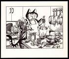 B Kliban Cats BLENDER CAT vintage funny cat art print