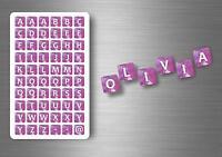 Personalizzato Testo Slogan Personale Nomi Citazione Scritta Adesivi Font 91-100