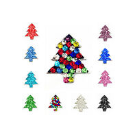 NEW Clay Rhinestone Christmas tree Chunk Snap Button for Noosa Bracelet Necklace