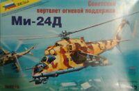 1/72 Mi-24D Helicopter  ZVEZDA 7213 Plastic Model kit
