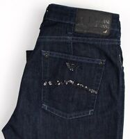 Armani Jeans Femme Extensible Jambe Droite Jean Taille W27 L32 ARZ1288