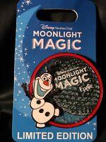 DISNEY VACATION CLUB DVC EPCOT MOONLIGHT MAGIC OLAF PIN LE 1500 MINT ON CARD
