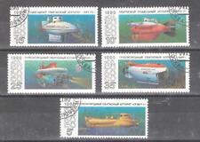 RUSIA (URSS) nº 5799/5803º Submarinos. Serie Completa