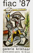 Arlequin au Baton, Original 1987 Exhibition Poster, Pablo Picasso