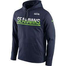 Seattle Seahawk Sideline circuito Jersey Sudadera con capucha de la NFL Fútbol Grande de rendimiento