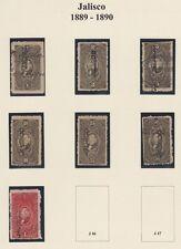 MEXICO, 1889-90. Revenue Jalisco Renta JA39-45, Mint/Used