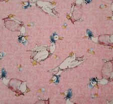 Jemima Puddle Duck BTY Beatrix Potter Quilting Treasures Pink