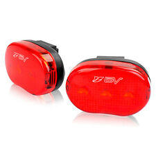 BV 2x Bicycle Flash Light 3 LED Taillight Water Resistant NEW L806-PAIR