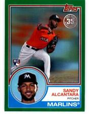 2018 Topps 83 Chrome Silver Series 2 Green Refractor #53 Sandy Alcantara 71/99