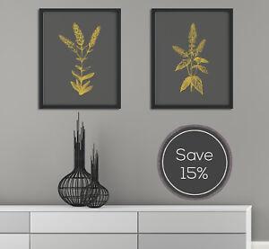 Botanical Print, Print Set, Wall Art Set, Minimalist Wall Art, Wall Art Prints