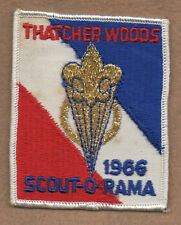 THATCHER WOODS 1966 SCOUT-O-RAMA Boy Scouts of America Patch - Unused - Metallic