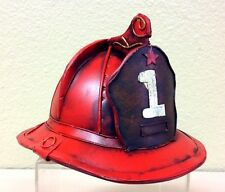 "Antique Style Metal Firemans Hat. 5""H x 6""W x 7""L. Decorative Use ONLY !!!!!"