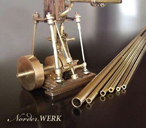 Messing Rohr nahtlos starkwandig - große AUSWAHL - 500mm - drehen Modellbau