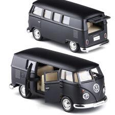 Volkswagen Van T1 Micro Model Bus 5'' Alloy Diecast Toys 1:36 Gifts Matte Black