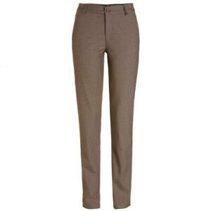 NWT Golfino Ladies CHECKED STRETCH TROUSERS 1368124 171 Brown 4 6 8 10 12 14 16