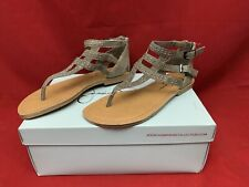 Jessica Simpson Davida Gladiator Sandals Size 6.5 Coffee Summer Haze Studded B3
