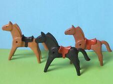 PLaymobil* 3 Stück Pferd mit Sattel Western 4866 4865 3269 3268 Ritterburg 3666