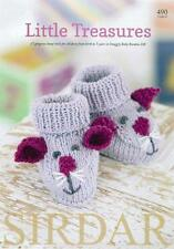 Sirdar Little Treasures Knitting Book 17 Designs Snuggly Baby Bamboo Yarn 490
