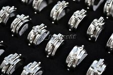 Wholesale Bulk 5pcs Cross Christian Men's Fashion Jewelry Stainless Steel Rings