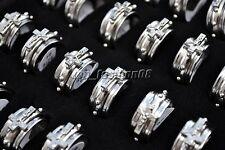 Wholesale Bulk 5pcs Cross Christian Men's Fashion Jewelry Stainless Steel Rings