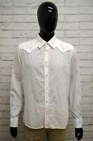 Camicia DIESEL Uomo Taglia M Maglia Chemise Shirt Man Cotone Bianco Manica Lunga